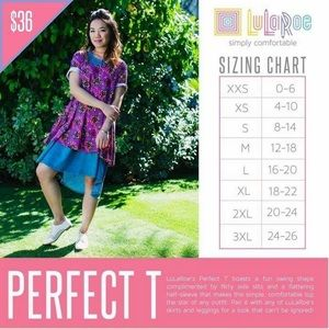 LuLaRoe Tops - ❤️ SALE ❤️. LuLaRoe Perfect T - Size XS
